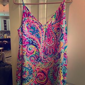 Lilly Pulitzer XL silk loose dress